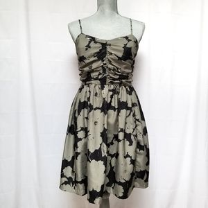 Urban Outfitters Ecote Green Black Gold Floral Dress M